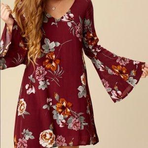 ALTAR'D STATE | bluegrass dress floral bell sleeve